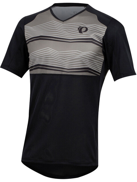 PEARL iZUMi Launch Short Sleeve Jersey Men black/smoked pearl mtn